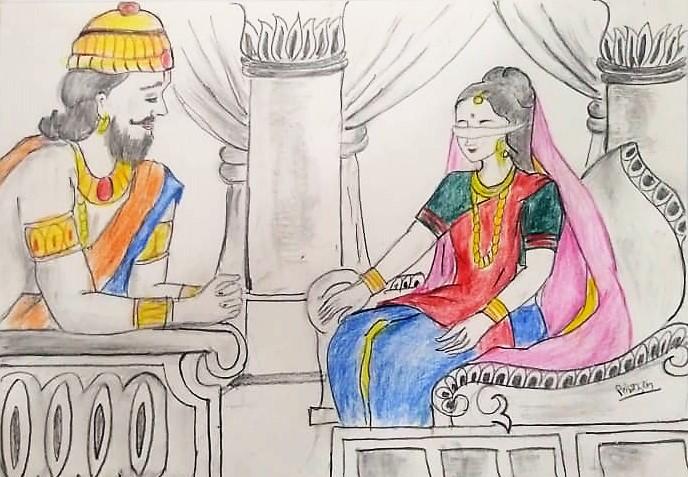 Dhritrashtra Aur Gandhari (धृतराष्ट्र और गांधारी )