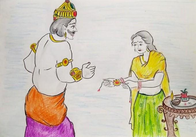 Raksha Bandhan Ki Kahani (रक्षा बंधन की कहानी)