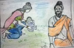 Vishwamitra and Menka
