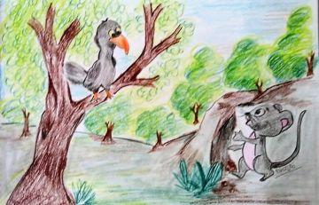 Chuhe Aur Kouye Ka Samvad (चूहे और कौवे का संवाद )
