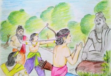 Dronacharya Ke Shishay Aur Eklavya (द्रोणाचार्य के शिष्य और एकलव्य)