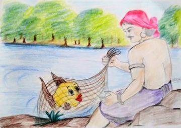 Machhuaara aur Jaaduee Machhalee (मछुआरा और जादुई मछली )