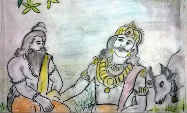 Raja Kaushik And Maharshi Vashishth